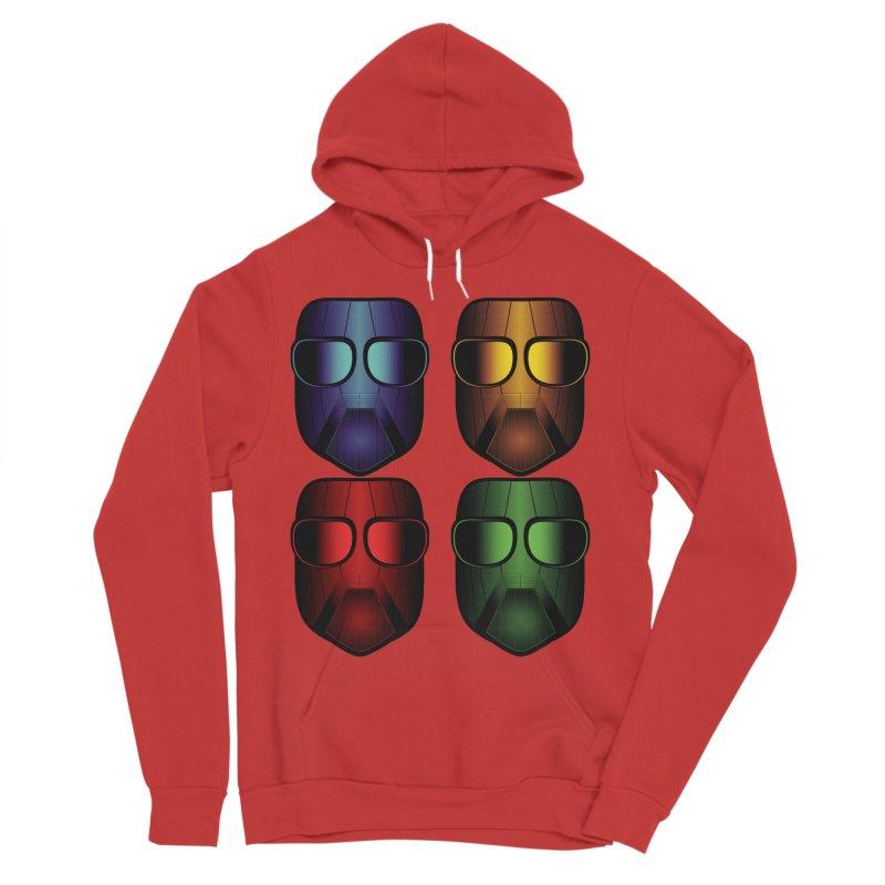 4 Masks Eins Women's Sponge Fleece Pullover Hoody by nickaker's Artist Shop