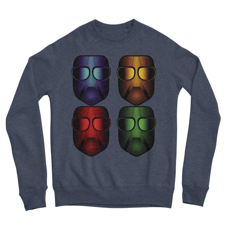 4 Masks Eins Men's Sponge Fleece Sweatshirt by nickaker's Artist Shop