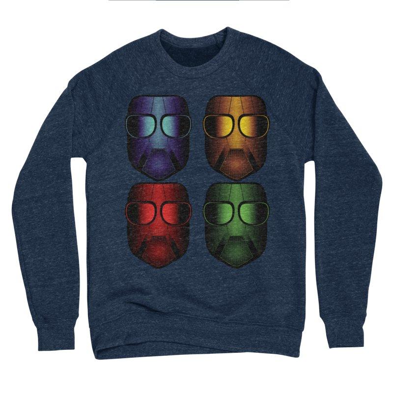4 Masks Eins Women's Sponge Fleece Sweatshirt by nickaker's Artist Shop