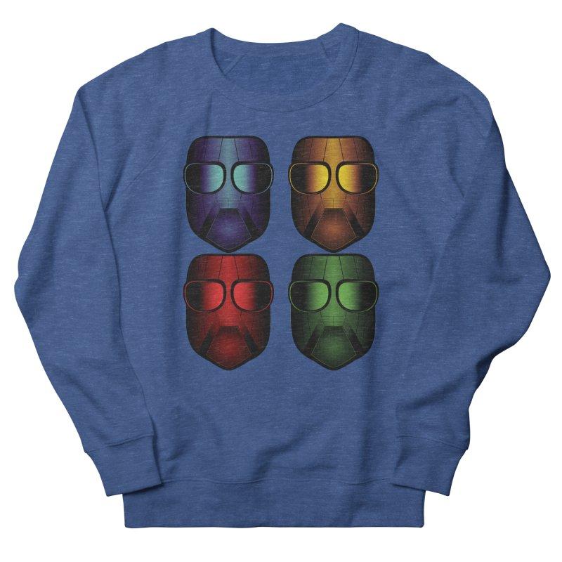 4 Masks Eins Men's French Terry Sweatshirt by nickaker's Artist Shop
