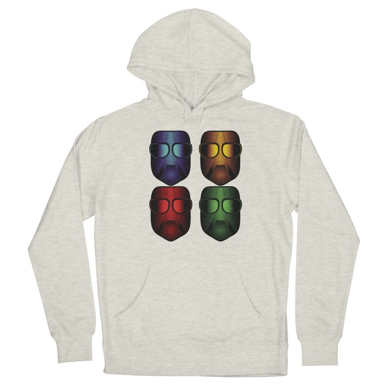 4 Masks Eins Men's French Terry Pullover Hoody by nickaker's Artist Shop