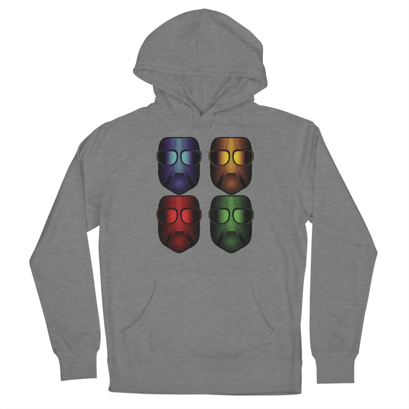4 Masks Eins Women's Pullover Hoody by nickaker's Artist Shop