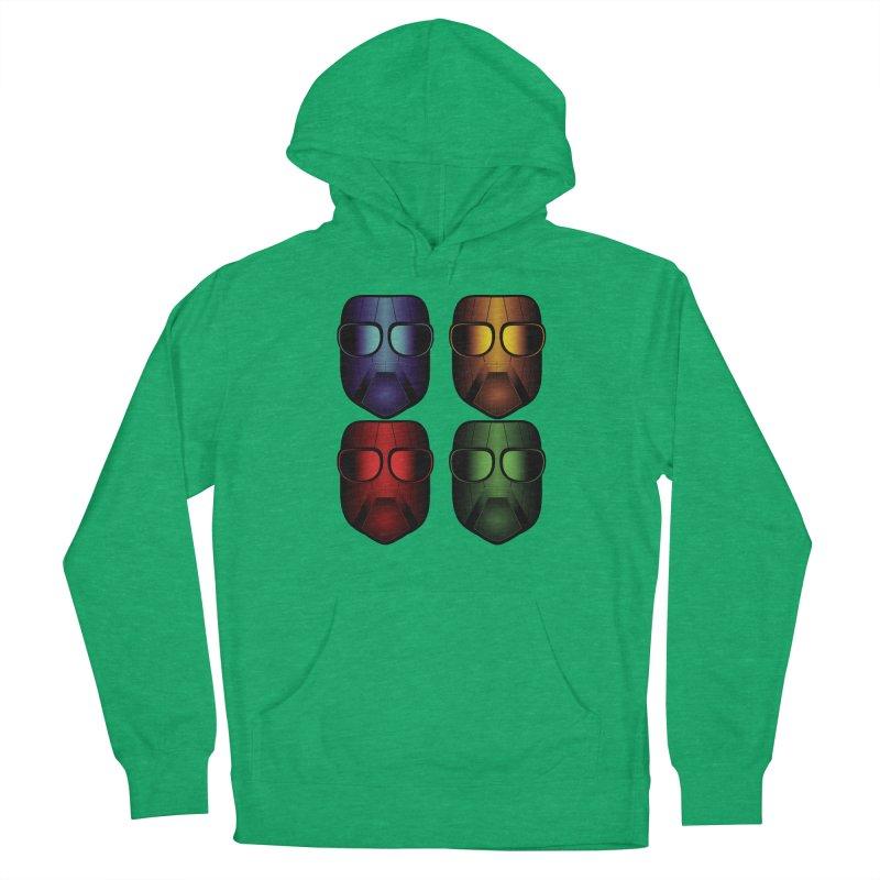 4 Masks Eins Women's Pullover Hoody by nickaker's Artist Shop
