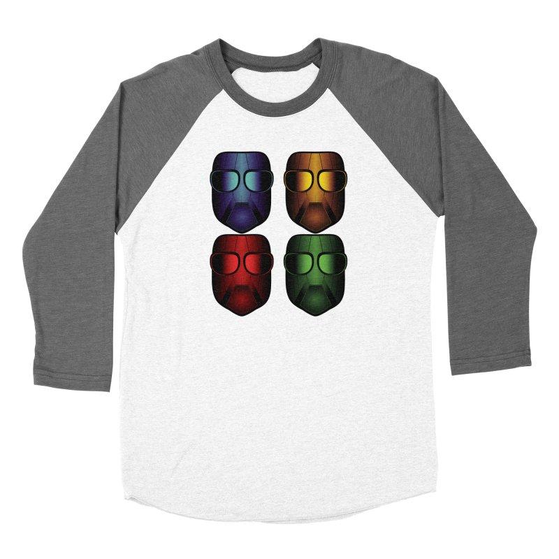 4 Masks Eins Women's Longsleeve T-Shirt by nickaker's Artist Shop