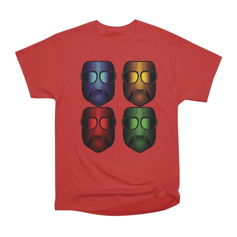 4 Masks Eins Women's Heavyweight Unisex T-Shirt by nickaker's Artist Shop