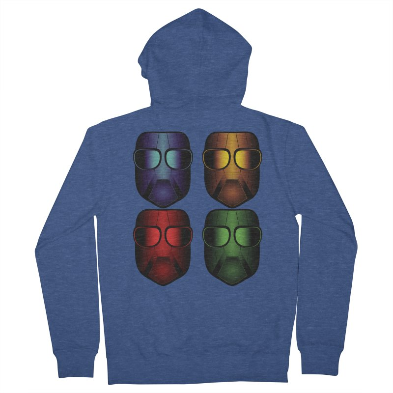 4 Masks Eins Men's French Terry Zip-Up Hoody by nickaker's Artist Shop