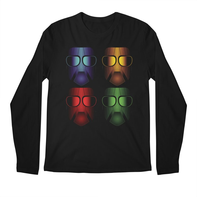 4 Masks Eins Men's Regular Longsleeve T-Shirt by nickaker's Artist Shop