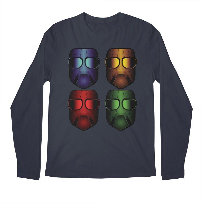 4 Masks Men's Longsleeve T-Shirt by nickaker's Artist Shop