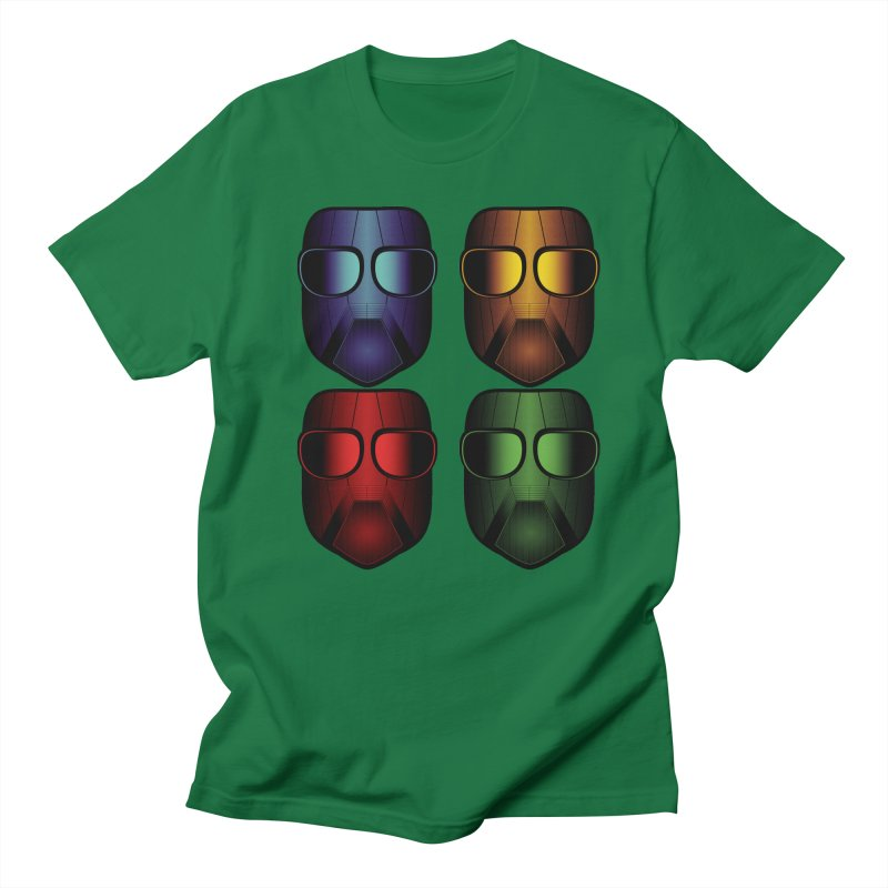 4 Masks Eins Men's Regular T-Shirt by nickaker's Artist Shop