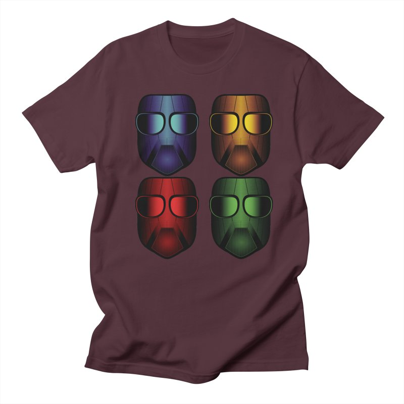 4 Masks Women's Unisex T-Shirt by nickaker's Artist Shop