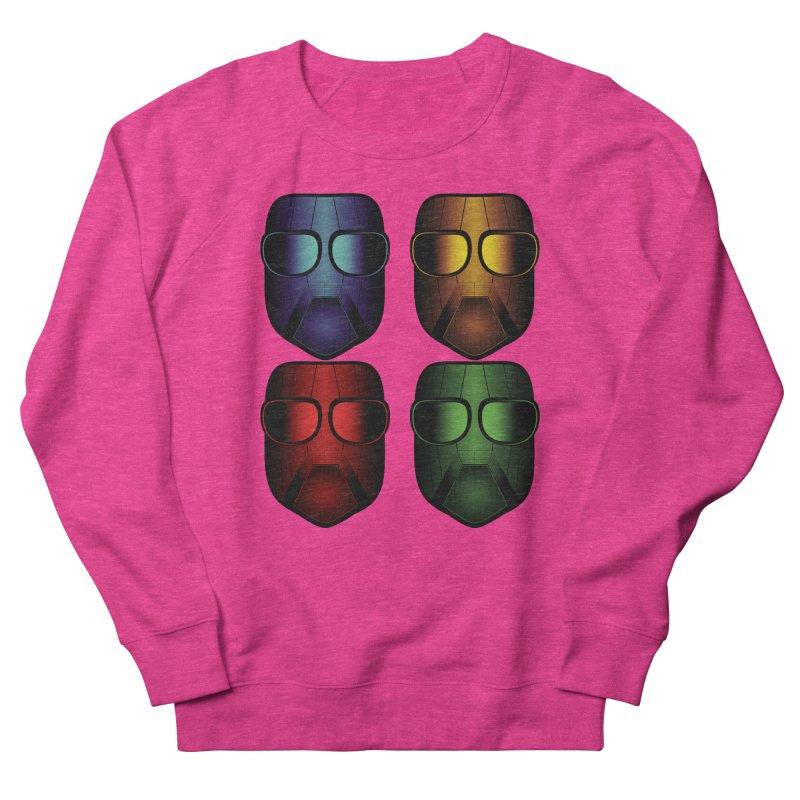4 Masks Eins Women's French Terry Sweatshirt by nickaker's Artist Shop