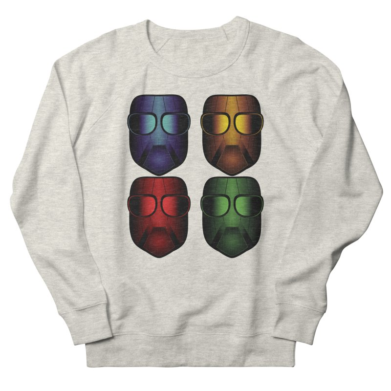 4 Masks Eins Women's French Terry Sweatshirt by nickaker's Artist Shop