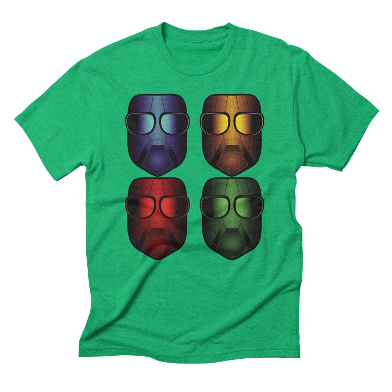 4 Masks Eins Men's Triblend T-Shirt by nickaker's Artist Shop