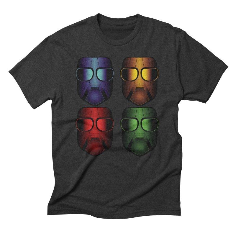 4 Masks Men's Triblend T-shirt by nickaker's Artist Shop