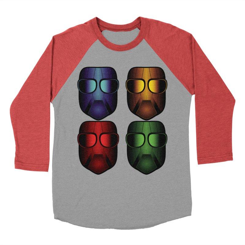 4 Masks Women's Baseball Triblend T-Shirt by nickaker's Artist Shop
