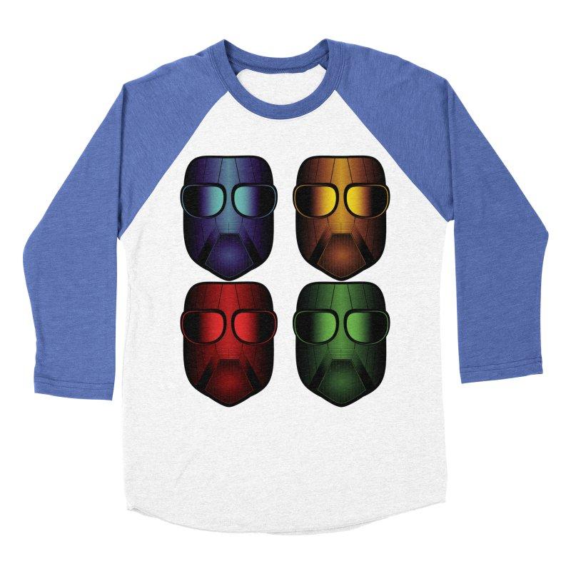 4 Masks Eins Men's Baseball Triblend Longsleeve T-Shirt by nickaker's Artist Shop