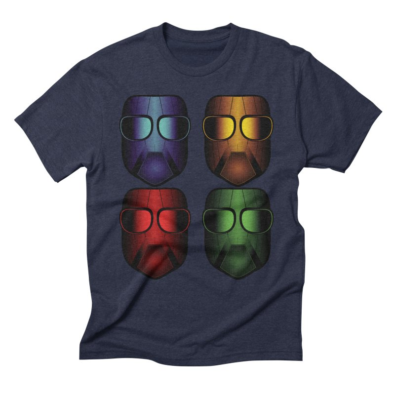 4 Masks Men's Triblend T-shirt by nickaker's Artist Shop