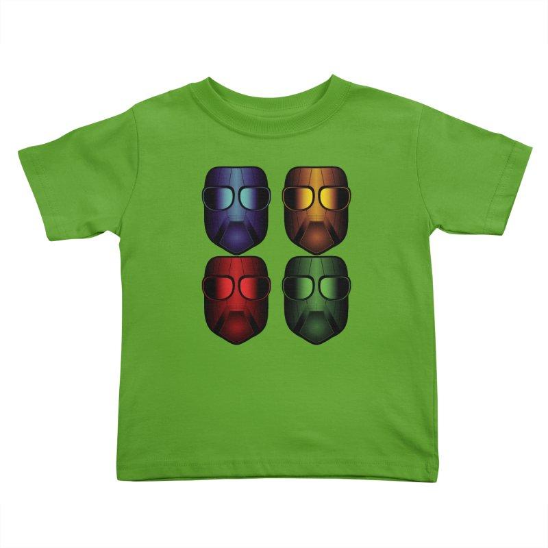 4 Masks Eins Kids Toddler T-Shirt by nickaker's Artist Shop