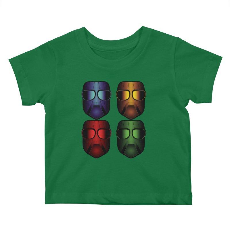 4 Masks Eins Kids Baby T-Shirt by nickaker's Artist Shop