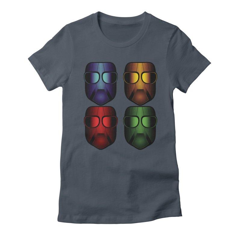 4 Masks Eins Women's T-Shirt by nickaker's Artist Shop