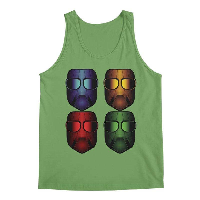 4 Masks Eins Men's Tank by nickaker's Artist Shop