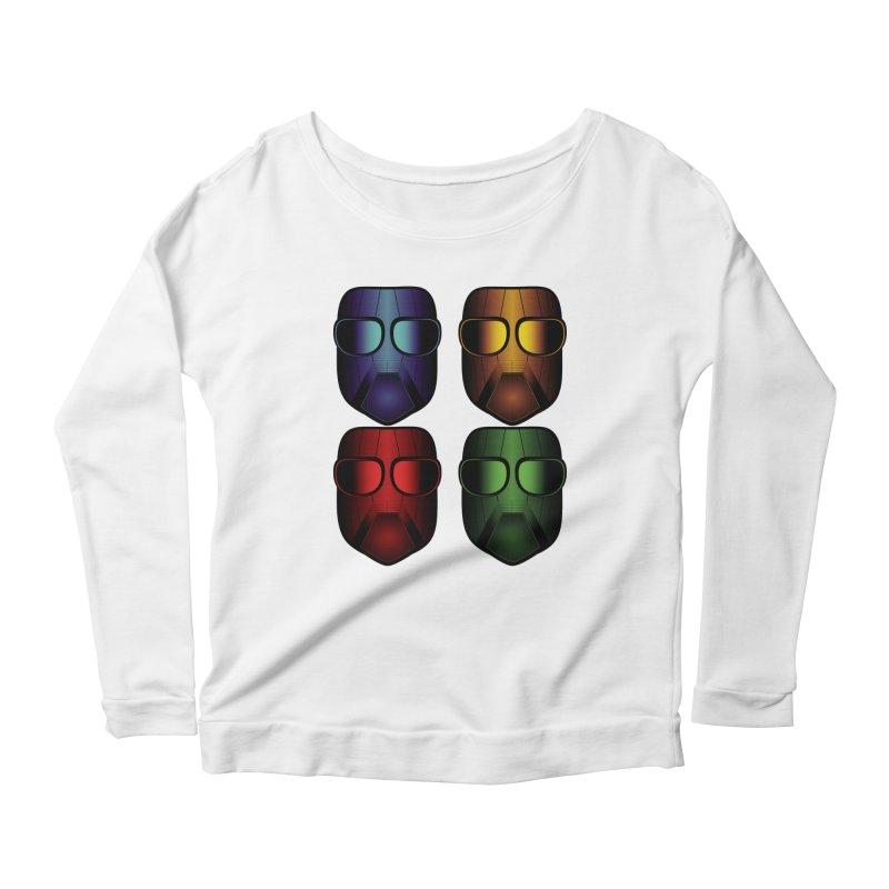 4 Masks Eins Women's Scoop Neck Longsleeve T-Shirt by nickaker's Artist Shop