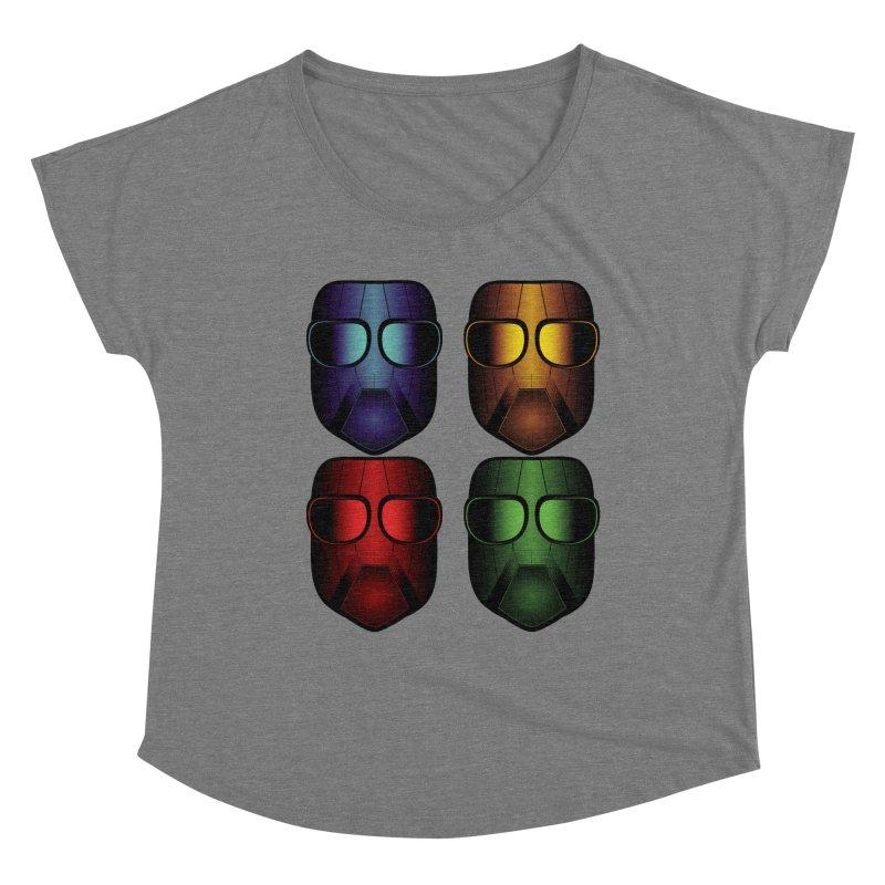 4 Masks Eins Women's Scoop Neck by nickaker's Artist Shop