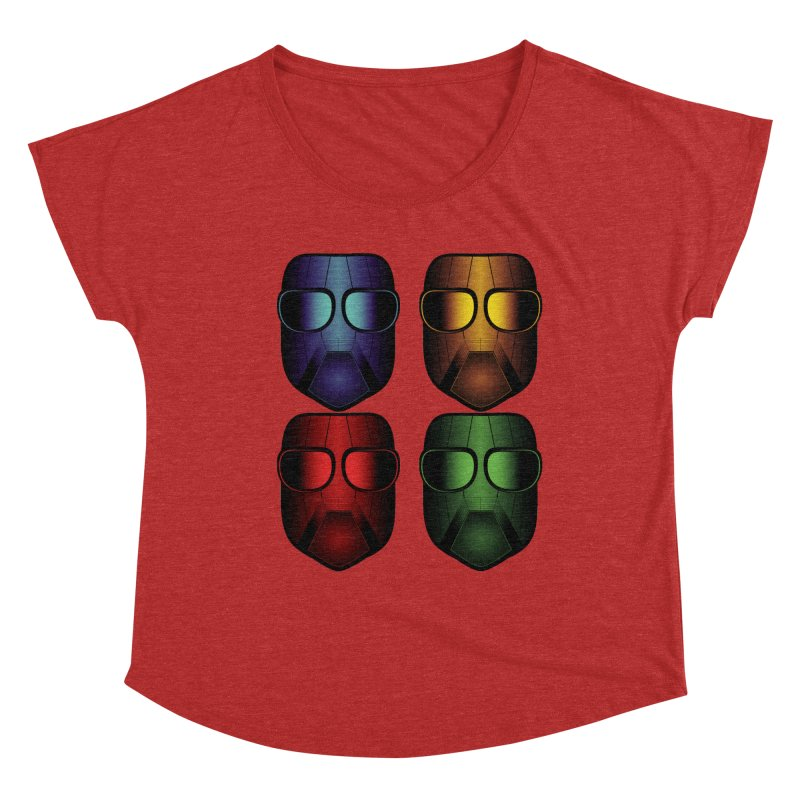 4 Masks Eins Women's Dolman Scoop Neck by nickaker's Artist Shop