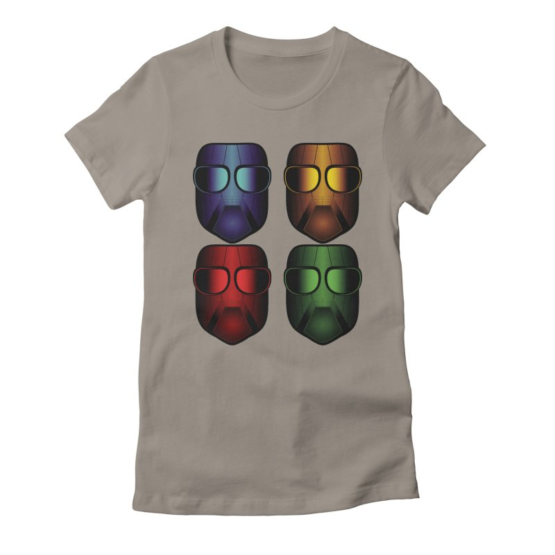 4 Masks Eins Women's Fitted T-Shirt by nickaker's Artist Shop