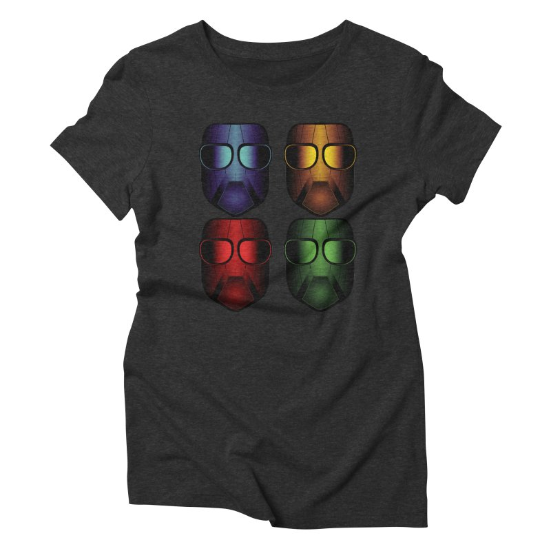 4 Masks Women's Triblend T-Shirt by nickaker's Artist Shop