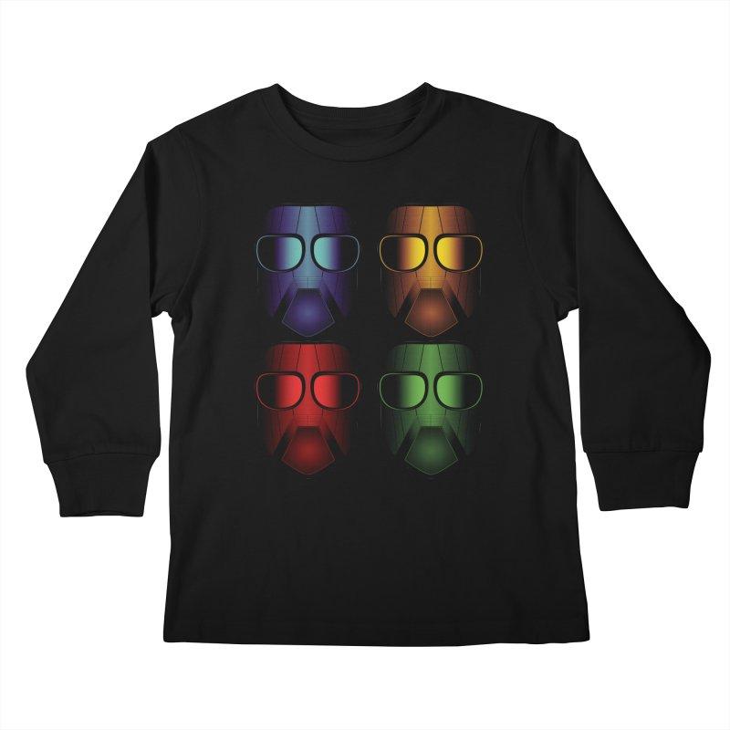 4 Masks Eins Kids Longsleeve T-Shirt by nickaker's Artist Shop
