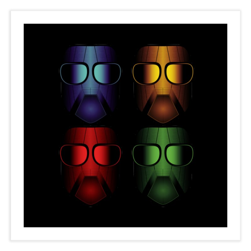 4 Masks Eins Home Fine Art Print by nickaker's Artist Shop