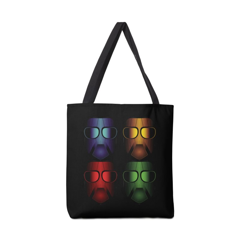 4 Masks Eins Accessories Tote Bag Bag by nickaker's Artist Shop