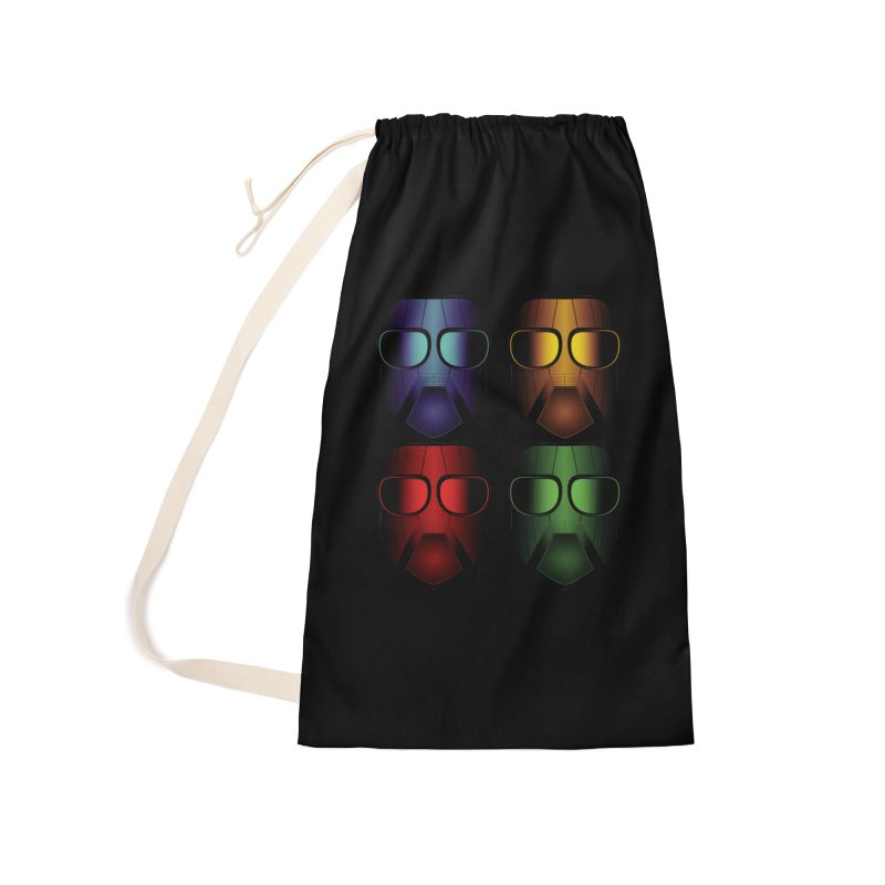4 Masks Eins Accessories Laundry Bag Bag by nickaker's Artist Shop