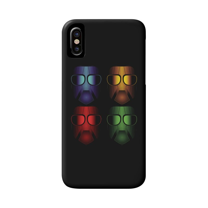 4 Masks Eins Accessories Phone Case by nickaker's Artist Shop