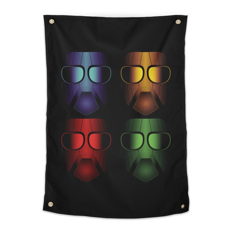 4 Masks Eins Home Tapestry by nickaker's Artist Shop