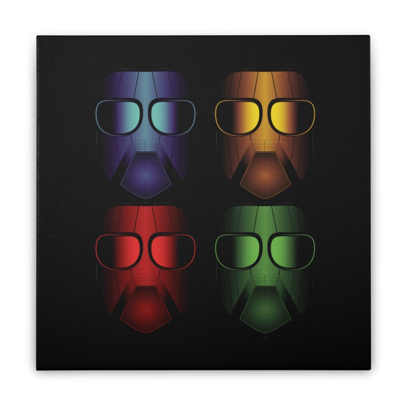 4 Masks Eins Home Stretched Canvas by nickaker's Artist Shop