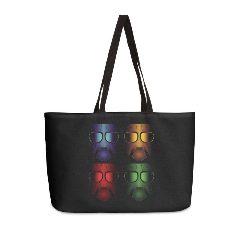 4 Masks Eins Accessories Weekender Bag Bag by nickaker's Artist Shop