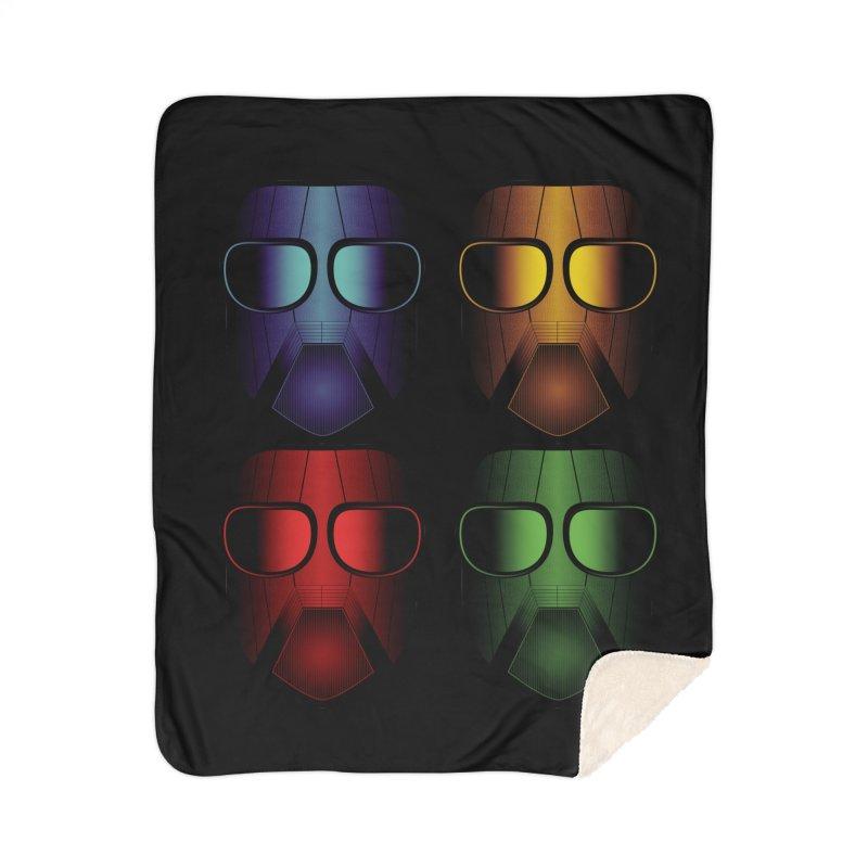 4 Masks Eins Home Sherpa Blanket Blanket by nickaker's Artist Shop