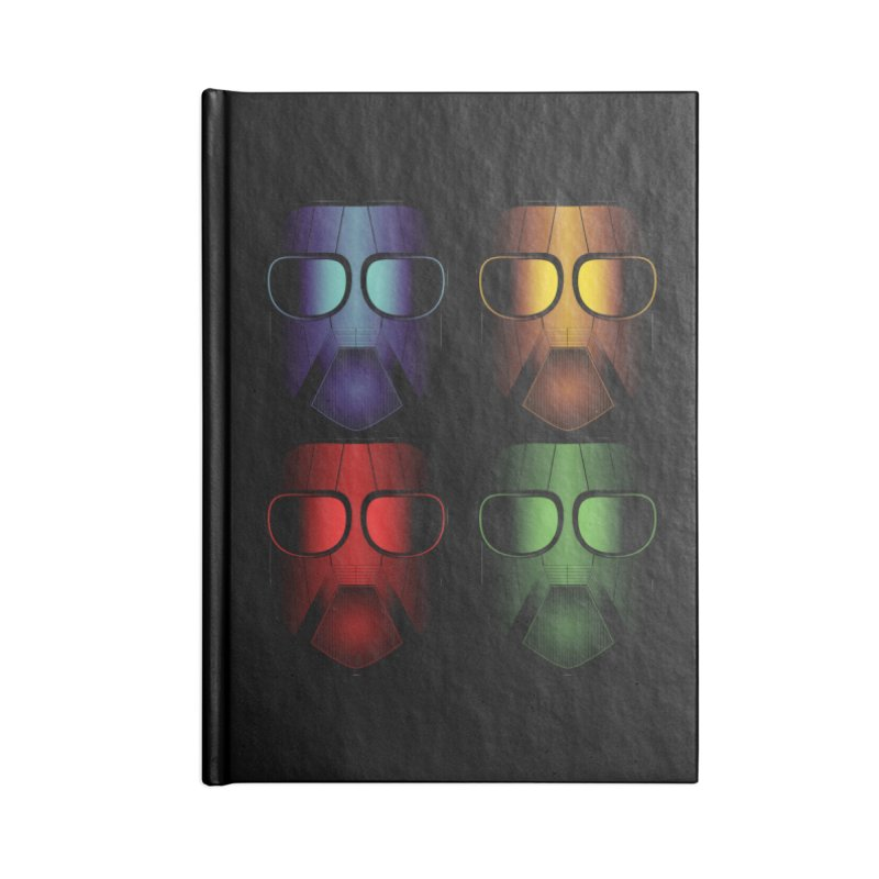 4 Masks Eins Accessories Lined Journal Notebook by nickaker's Artist Shop