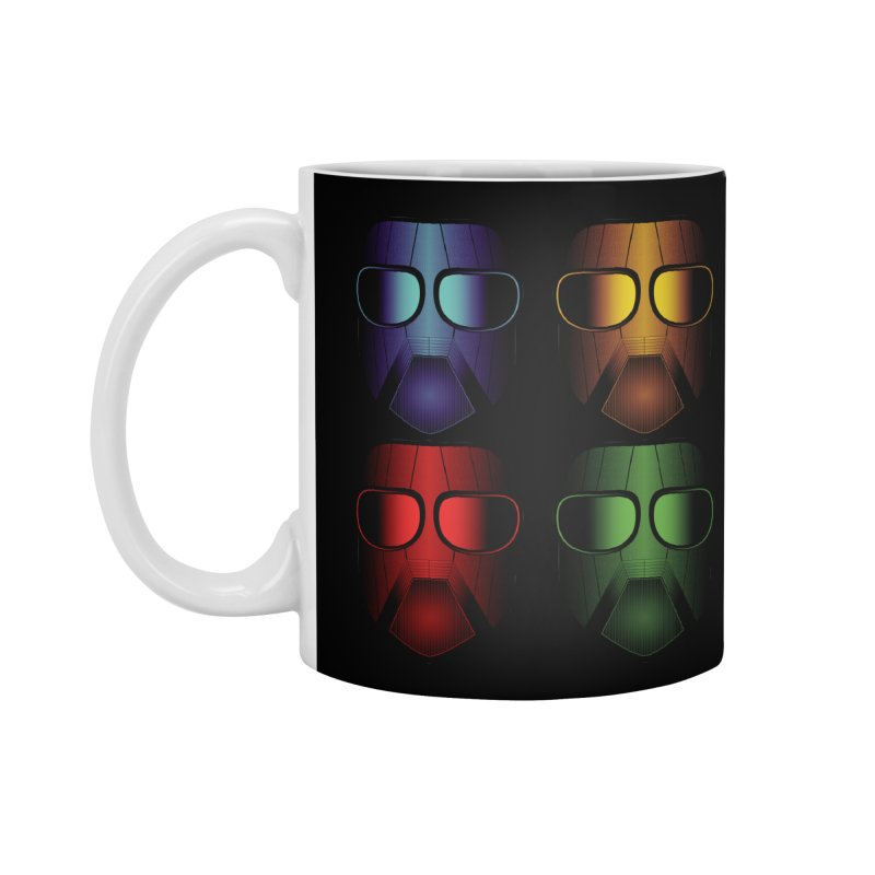 4 Masks Eins Accessories Standard Mug by nickaker's Artist Shop