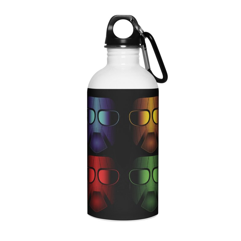 4 Masks Accessories Water Bottle by nickaker's Artist Shop