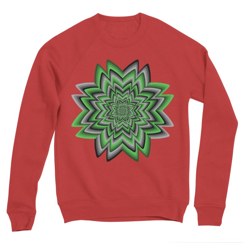Wacky Clover Men's Sponge Fleece Sweatshirt by nickaker's Artist Shop