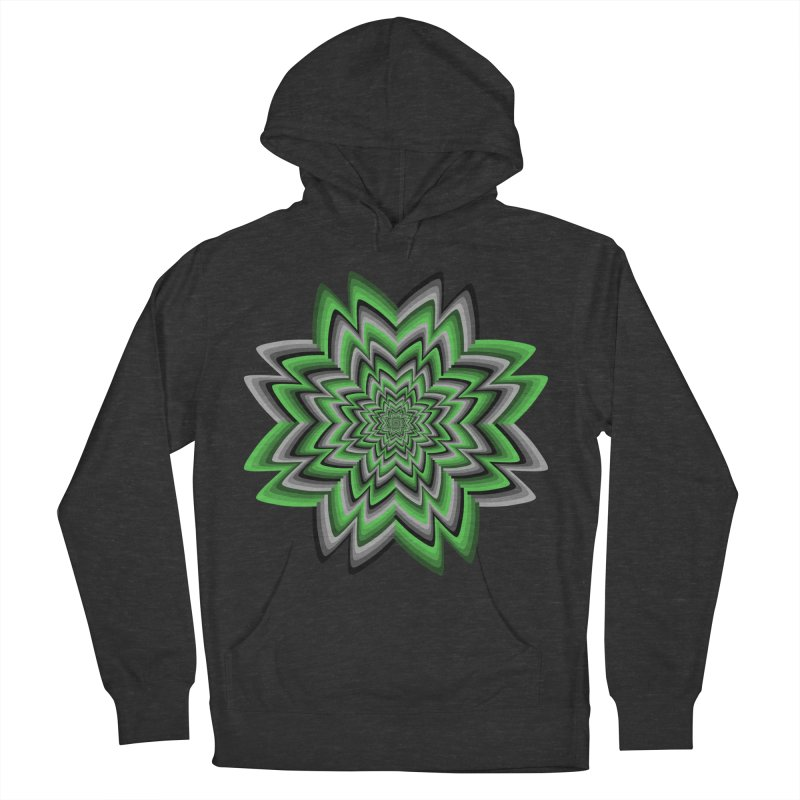 Wacky Clover Women's French Terry Pullover Hoody by nickaker's Artist Shop