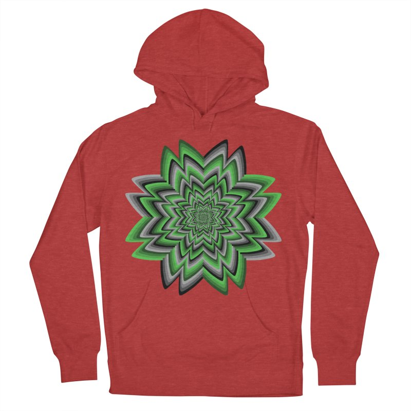 Wacky Clover Men's French Terry Pullover Hoody by nickaker's Artist Shop