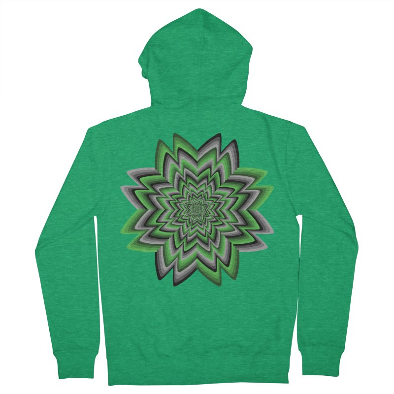 Wacky Clover Women's French Terry Zip-Up Hoody by nickaker's Artist Shop