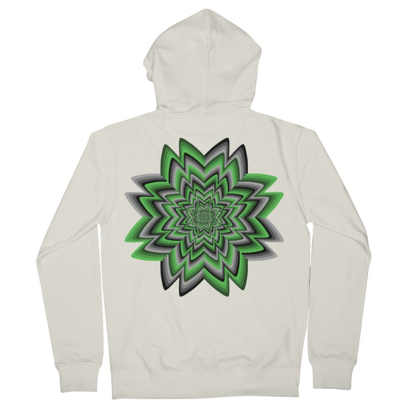 Wacky Clover Men's French Terry Zip-Up Hoody by nickaker's Artist Shop