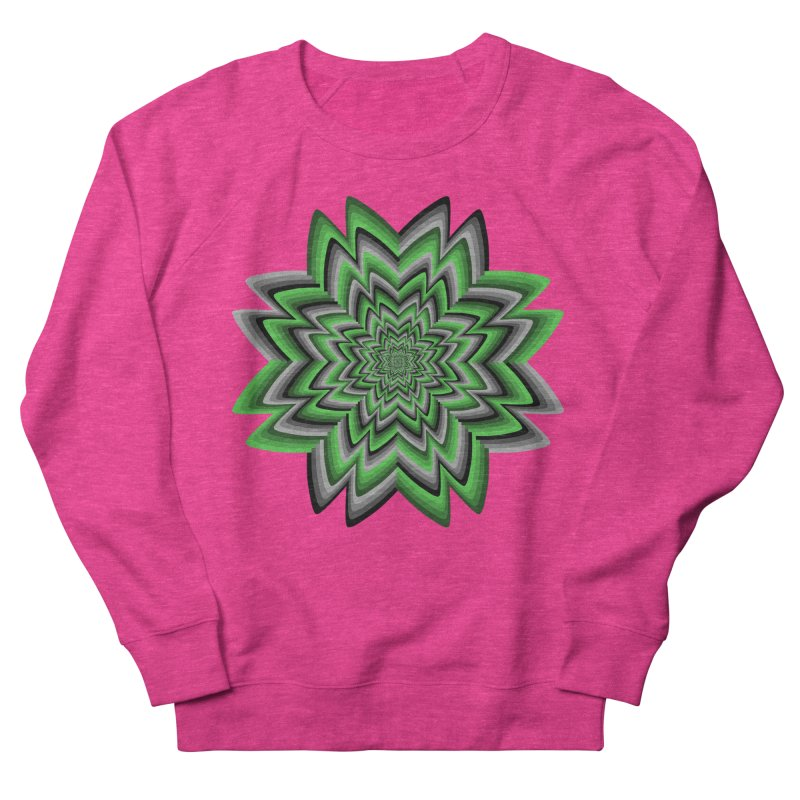 Wacky Clover Women's French Terry Sweatshirt by nickaker's Artist Shop