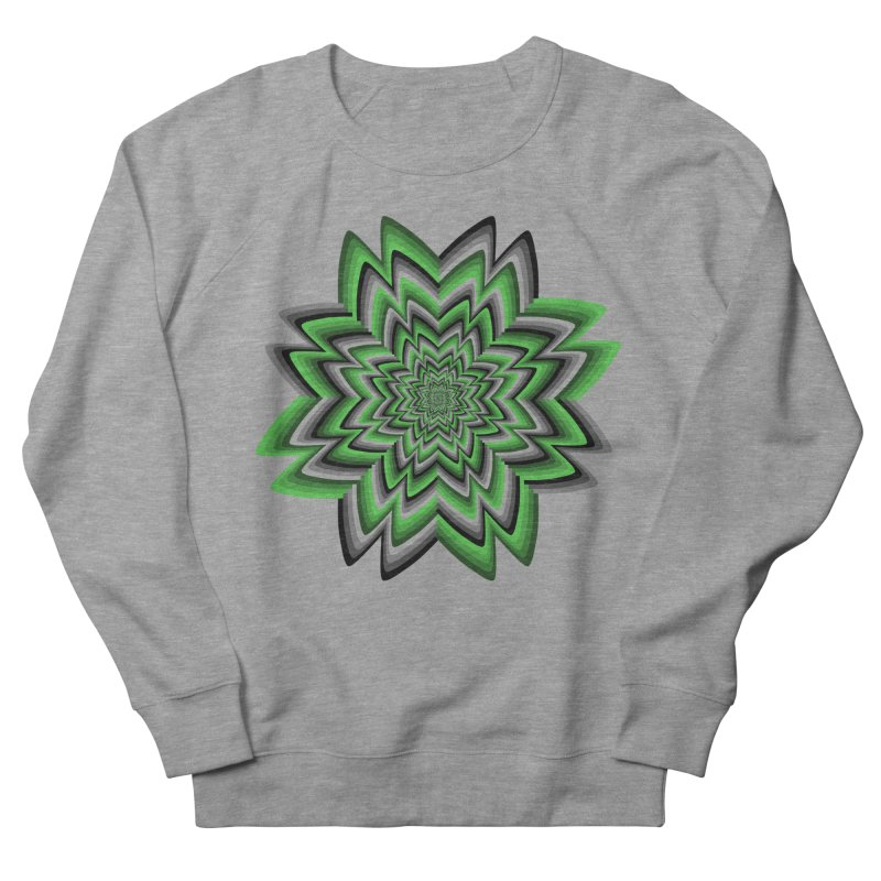 Wacky Clover Men's French Terry Sweatshirt by nickaker's Artist Shop