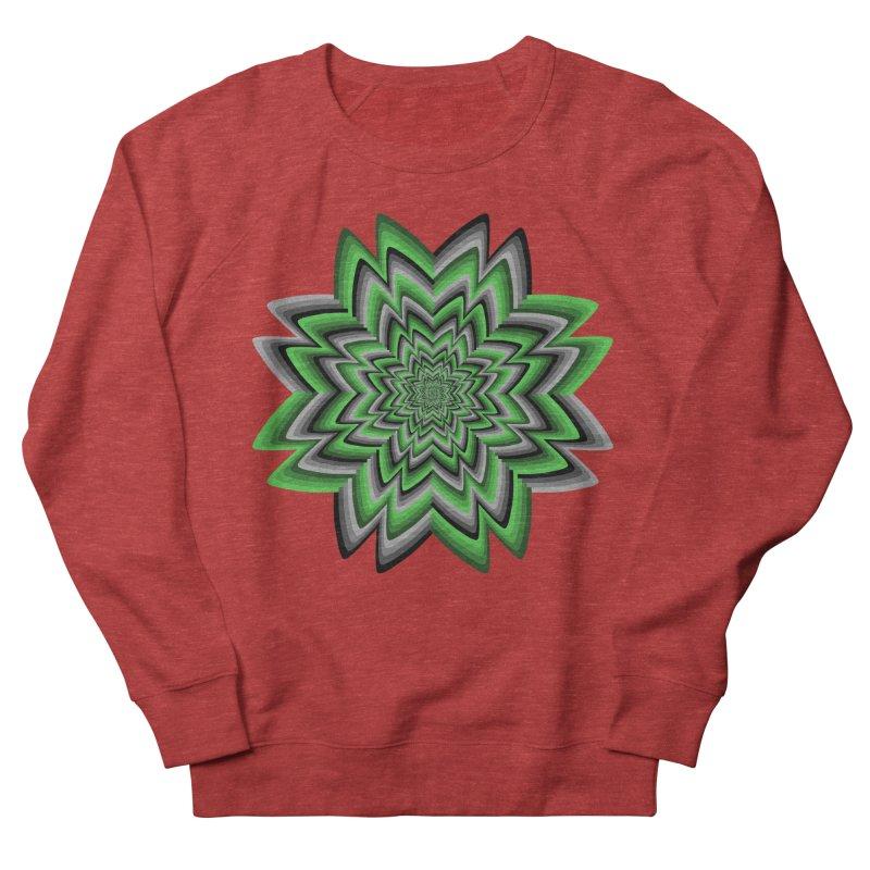 Wacky Clover Men's French Terry Sweatshirt by nickaker's Artist Shop